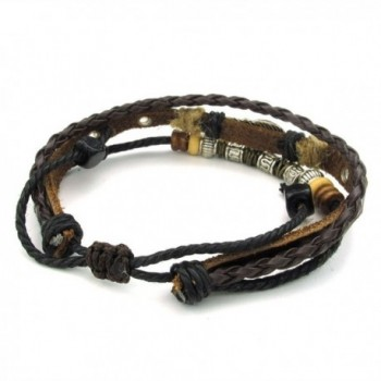 TEMEGO Jewelry Womens Leather Bracelet in Women's Cuff Bracelets