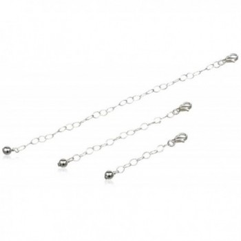 """925 Sterling Silver Three Pack of Necklace Extenders 1"""" 2"""" 4"""" Inches Thin Thick Inch - C612IXBNNQH"""