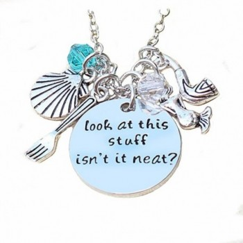 Inspirational Necklace Pendant For Woman Teen Girls Inscribed Sea Beach Jewelry Gift - CG12MXNFEWI