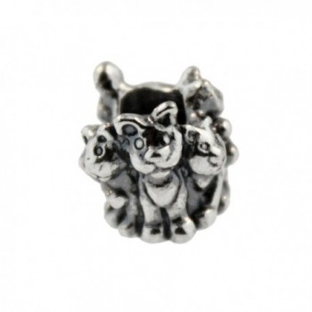 Authentic Trollbeads Sterling Silver 11354 Family of Kittens - CT12JBUNJLX