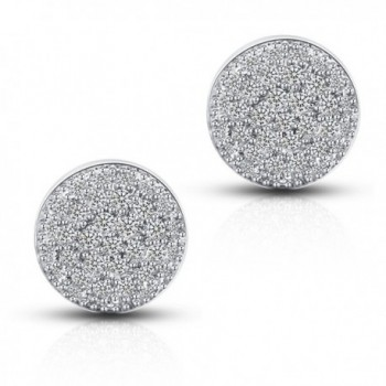 Half Ball CZ Stud Earrings - 18K Gold Plated Round Cubic Zirconia Stud Earrings With Silver Post - CX12NRYMOFT