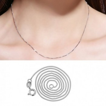 YFN Sterling Silver 0 8mm Necklace