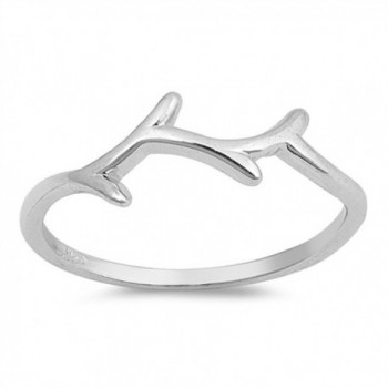 High Polish Tree Branch Wholesale Ring New .925 Sterling Silver Band Sizes 4-10 - CO12NVV6U1X