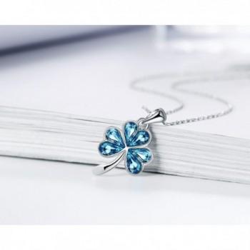 Shamrock Swarovski Elements Necklace Christmas in Women's Pendants