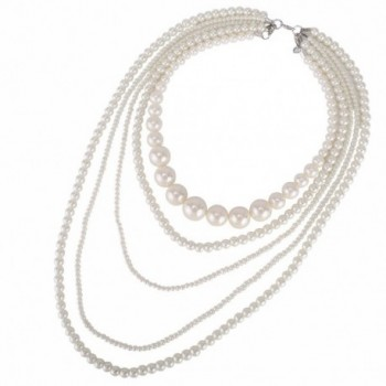 Kalse Multiple Simulated Cluster Necklace in Women's Pearl Strand Necklaces