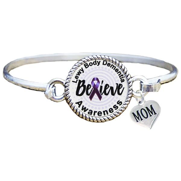 Bracelet Custom Lewy Body Dementia Awareness Believe MOM OR DAD charm ONLY Silver Jewelry - CS17AZSUCGK