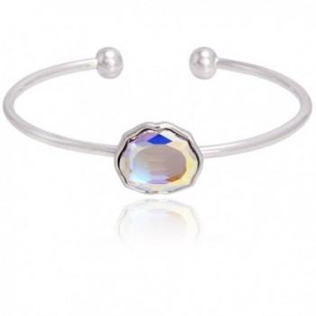 Moments Open Bange Bracelet Made With Swarovski Iridescent Crystal- Jewerly For Women - C61888EX7AT