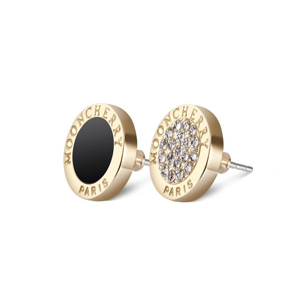 Latitude 22 Gold Tone Stud Earrings 24K Gold Plated for Women - C3189KL5Q8Q