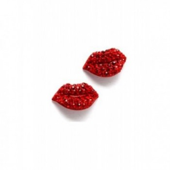 Red Hot Lips Stud Earrings - CE11C0KQMDT