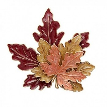 Golden Tone Autumn Maple Leaf Brooch Pin Jewelry Three Maple Leaves Brooch For Women - C512N2VAT2A