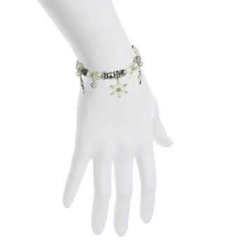 Lux Accessories Snowflake Christmas Bracelet
