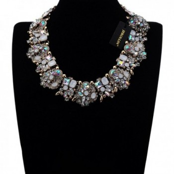 Vintage Multi Color Crystal Statement Necklace in Women's Chain Necklaces