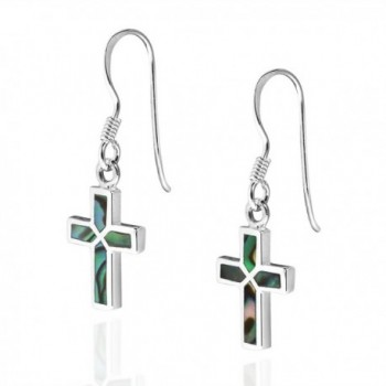 Inlaid Abalone Sterling Silver Earrings