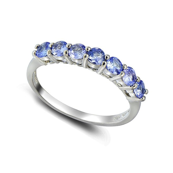 Sterling Silver Tanzanite Half Eternity Band Ring - CI184SS38M8