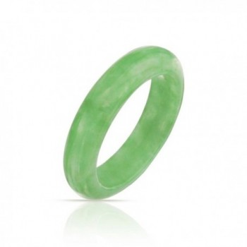 Bling Jewelry Dyed Green Jade Band Modern Ring - CP11KPNHGR9