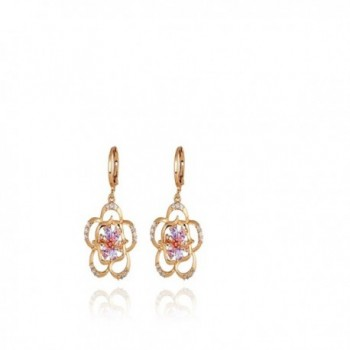 YAZILIND Charming Colorful Zirconia Earrings