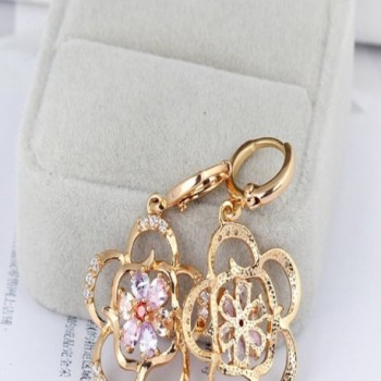 YAZILIND Charming Colorful Zirconia Earrings in Women's Drop & Dangle Earrings