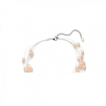 Regalia Freshwater Cultured Floating Necklace in Women's Pearl Strand Necklaces