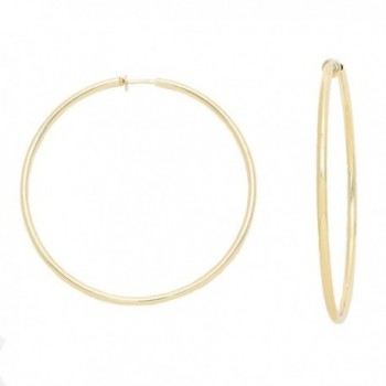 2.25 in Solid Goldtone Spring Back Hoop Clip On Earrings - CI128LAW2CZ