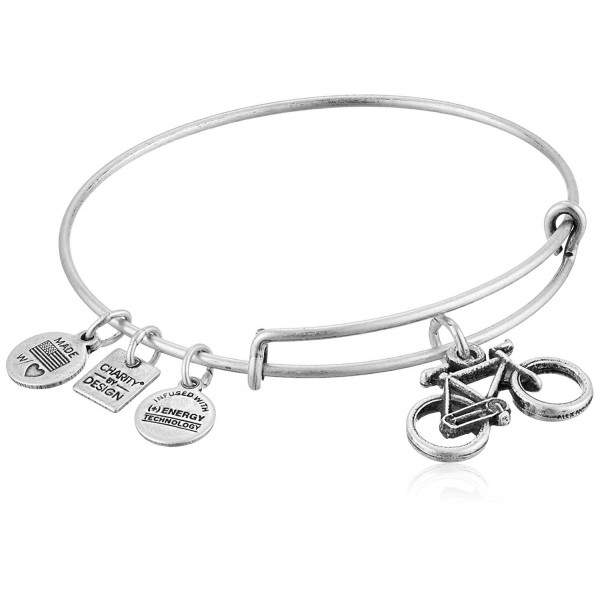 Alex and Ani Charity By Design Bike Bangle Bracelet - Rafaelian Silver - CI11XEXDZVN
