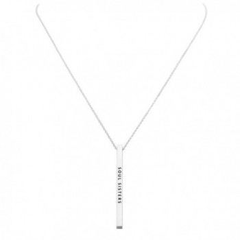 Rosemarie Collections Vertical Pendant Necklace