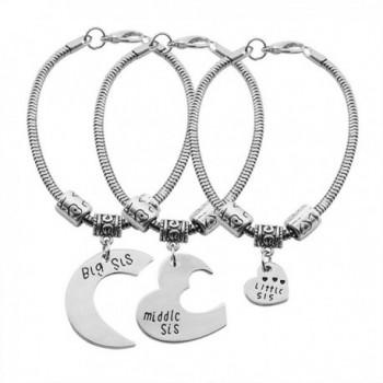 Middle Little Pendant Bracelet Jewelry - 3 Pcs Big Middle Little Sis Bracelet - CH17Z6QC62Y