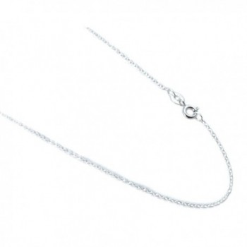 """Josco 925 Sterling Silver Rolo Style 1mm Cable Italian Chain- 14"""" - C211TLBQ85H"""