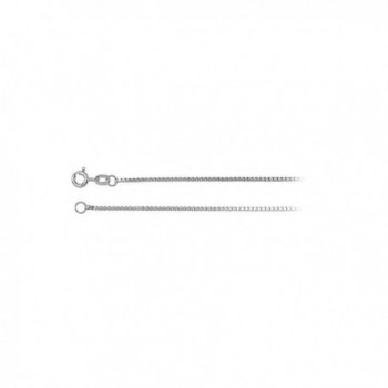 1.1mm Solid Box Chain Necklace in Sterling Silver - C512N41D1KD