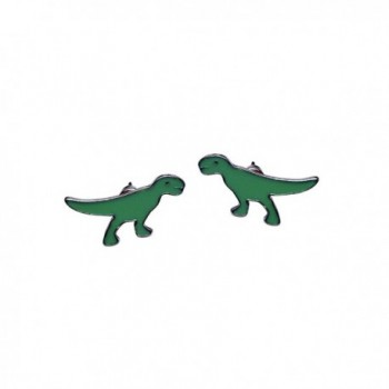 Katara Decor - Green TRex Dinosaur Minimalist Earrings Tyrannosaurus Rex T-rex - CK12992PFKV