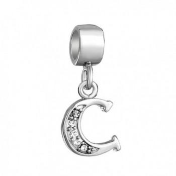 LovelyJewelry Sterling Alphabet Initial Bracelets - CI12NENOG2M