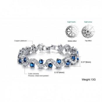Starista Platinum Zirconia Bracelet Accessory in Women's Tennis Bracelets