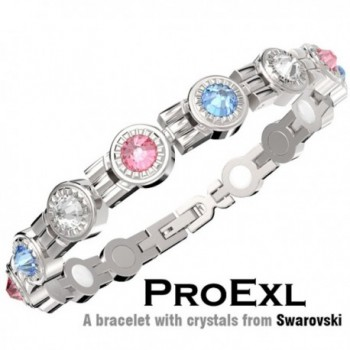A Swarovski Crystal Womens Magnetic Bracelet Multi Color Crystals Relief from Arthritis and Joint Pain - C211TB7VPQN