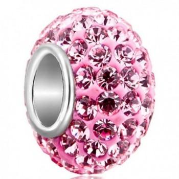 LovelyJewelry 925 Sterling Silver Birthstone Charms Swarovski Elements Crystal Bead - C211W8TJIUV