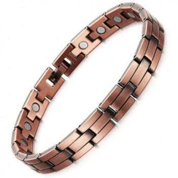 Rainso Mens Womens Magnetic Copper Bracelets for Arthritis Wristband Adjustable - C712O0TX7CV
