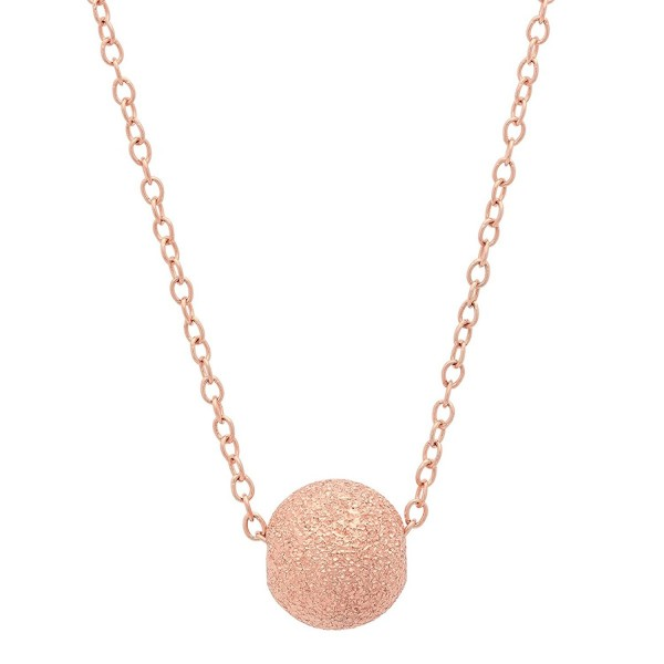 "Sterling Silver Laser Cut Texture Floating Ball Necklace- 16+2"" - CA185LMZ22U"