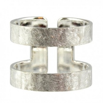 AppleLatte Double Band Ring- Silver Plated Adjustable - CZ11XJMJ207
