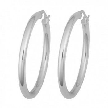 Sterling Silver 3x30mm Polish Earrings