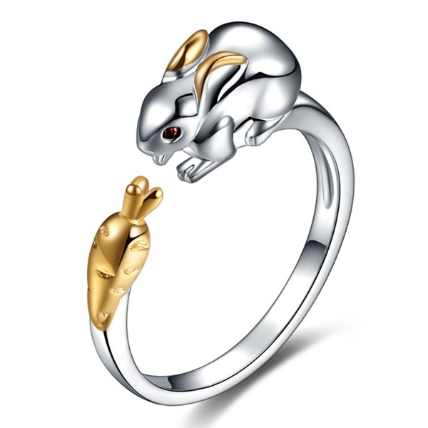 Ztuo 925 Sterling Silver Zircon Chinese Zodiac Ring Adjustable Band Gifts for Women Girls Jewelry - CL185GAY4ZS