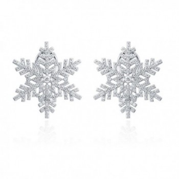 ZS Jewelry New Snowflake Stud Earring Cubic Zirconia Fashion Jewelry For Women - CY182KRIETD