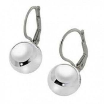Sterling Silver Ball Bead Lever Back Earrings - CD11RPYHQSF