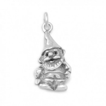 925 Sterling Silver Garden Gnome Charm - CO111SBNYIH
