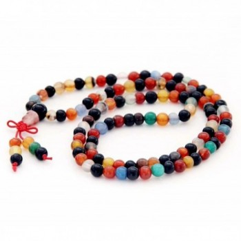 Agate Buddhist Prayer Meditation Necklace