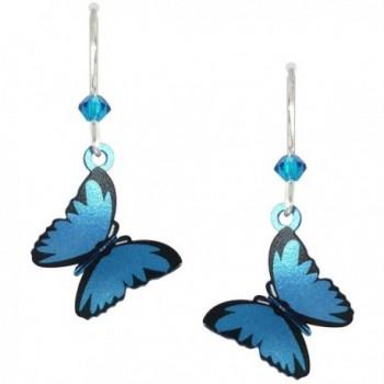 Sienna Sky 3-D Blue Morpho Butterfly Earrings 1665 - CY11HCEFDSX