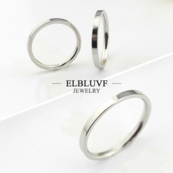ELBLUVF Stainless Hammered Stacking Knuckle