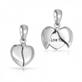 Bling Jewelry Sterling Silver Opening Heart I Love You Message Pendant - CW11C14V4IR