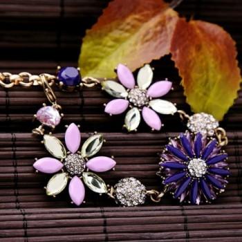Fashion Gold Plated Rhinestone Adjustable Bracelet