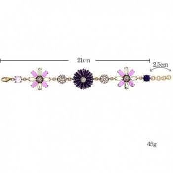 Fashion Gold Plated Rhinestone Adjustable Bracelet in Women's Link Bracelets