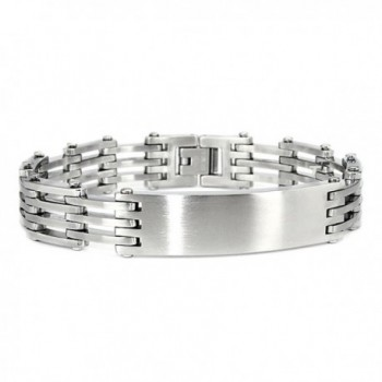 "Stainless Steel Open Link Identification ID Bracelet- 8.25"" - CF11EFUPODL"