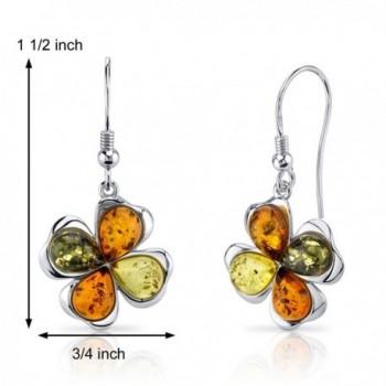 Baltic Clover Earrings Sterling Silver
