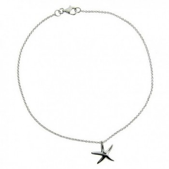 Sterling Silver Starfish Anklet - CP111B2HJF7